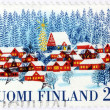 Winter Finnish Stamp — Stock Photo