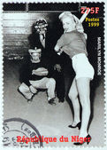 Marilyn Monroe - Niger Stamp 7 — Stock Photo