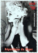 Marilyn Monroe - Niger Stamp 6 — Stock Photo