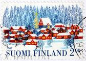 Winter Finnish Stamp — Stock Photo