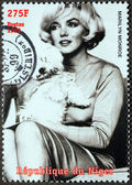 Marilyn Monroe - Niger Stamp 9 — Stock Photo