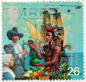 Pilgrim Fathers Stamp — Stock Photo