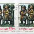 The flight into Egypt stamp — Stock Photo