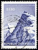 Sonnblick 天文台邮票 — 图库照片
