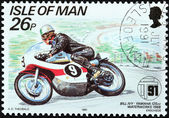 Motorcycle Race Stamp 1 — Stock Photo