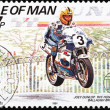 Motorcycle Race Stamp 2 — Stock Photo