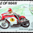 Motorcycle Race Stamp 3 — Stock Photo