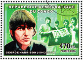 George Harrison Stamp — Stock Photo