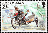Motorcycle Race Stamp 4 — Stock Photo