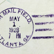 Foto Stock: US Air Mail Postmark
