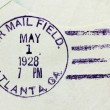 US Air Mail Postmark — Stock Photo