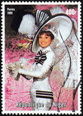 Audrey Hepburn Stamp — Stock Photo