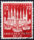 Lubeck 1943 Stamp — Stock Photo