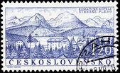 Strbske Pleso Stamp — Stock Photo