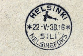 Finnish Air Mail Postmark — Stock Photo