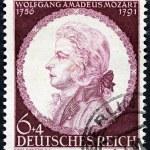 Постер, плакат: Mozart Stamp 1941