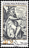Crispin de Passe Stamp — Stock Photo