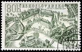 Cesky Krumlov Stamp — Stock Photo