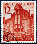 Gdansk Stamp — Stock Photo