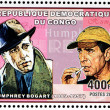 Humphrey Bogart Stamp — Stock Photo