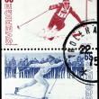 Two Skiing Stamps — Stock Photo #31040083