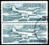 Two Airpplane Stamps — Stock Photo