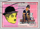 Charlie Chaplin Stamp — Stock Photo