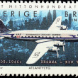 Swedish Airplane Stamp — Foto de Stock