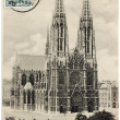 Votive Church Postcard — Stock Photo