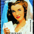 Marilyn Stamp from Madagascar-1 — Stock Photo