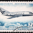 French Airplane Stamp — Stock Photo