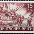 German Howitzer Stamp — Stock Photo