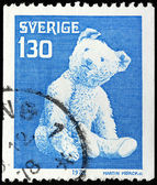 Teddy Bear Stamp — Stock Photo