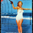 Marilyn Stamp from Madagascar-4 — Stock Photo
