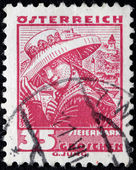 Styria Woman Stamp — Stock Photo