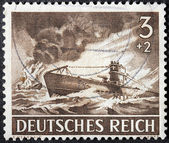 German Submarine Stamp — Stock Photo