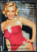 Marilyn Stamp from Madagascar-6 — Stock Photo