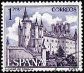Alcazar of Segovia Stamp — Stock Photo