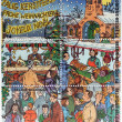 Christmas Market Stamps — Stock Photo