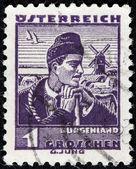 Burgenland Man Stamp — Stock Photo