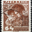Vorarlberg Women Stamp — Stock Photo