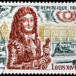 Louis XIV Stamp — Stock Photo