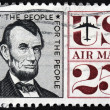 Lincoln Stamp — Stock Photo