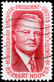 Herbert Hoover Stamp — Stock Photo