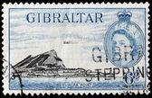 марка гибралтара 1953 — Стоковое фото