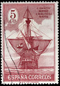 """Santa Maria"" Ship Stamp — Stock Photo"