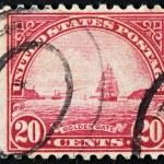 Golden Gate Stamp — Stock Photo #36180763