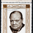 Winston Churchill Stamp — Stock Photo