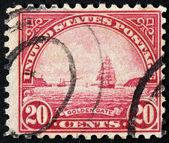 Golden Gate-Stempel — Stockfoto