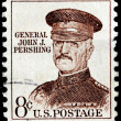Stock Photo: General Pershing Stamp